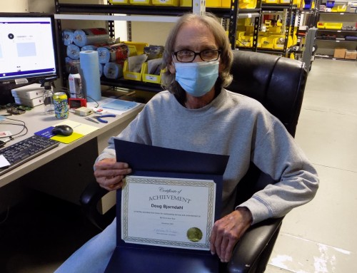 Doug Bjorndahl is the winner of the December Reward and Recognition Program!