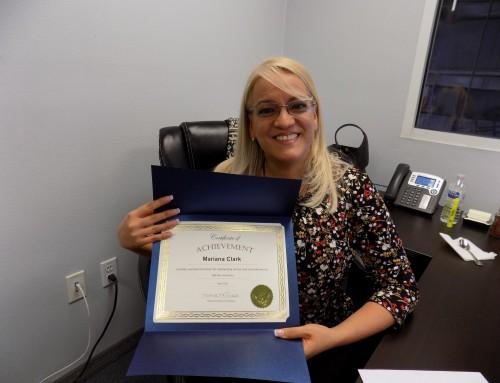 2021 April Reward and Recognition Winner Mariana Clark!
